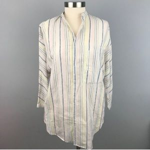 Equipment Elsie Stripe Tunic Top Femme - Size XS